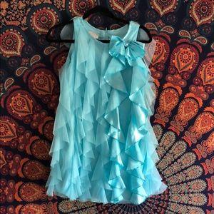 Light Blue Ruffle Little Girl's Dress